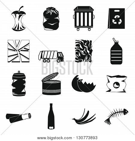 Waste icons set use for any design