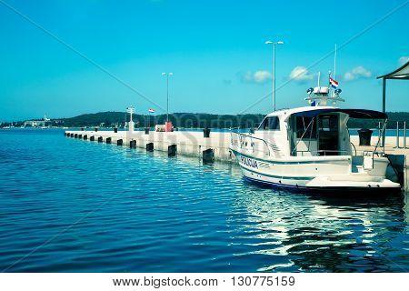 view of the berth in Porec, Croatia.