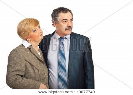 Middle Aged Business People Looking To The Future