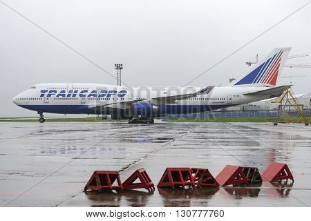 Transaero Boeing 747 In The Parking