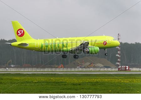Airbus A320 S7 Airlines Landing At Domodedovo International Airport.
