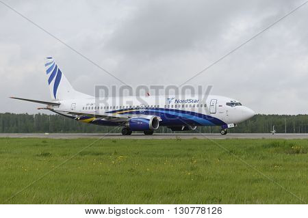 Nordstar Airlines Boeing-737 Taxiing.