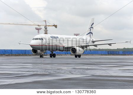 Airbus A320 Aegen Airlines Taxiing