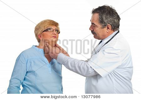Mature Endocrinologist With Patient Woman