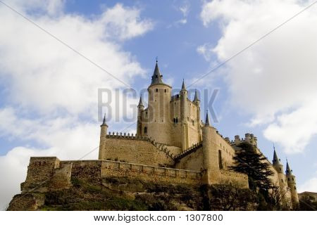 Alcazar Of Segovia Side