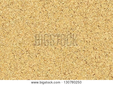 Cork Wood Texture Background Vector Illustration Board