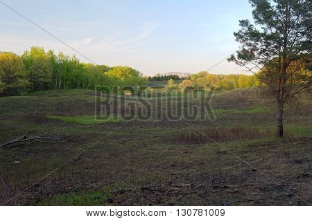 open fields and meadows with forests on border at battle creek regional park in saint paul minnesota