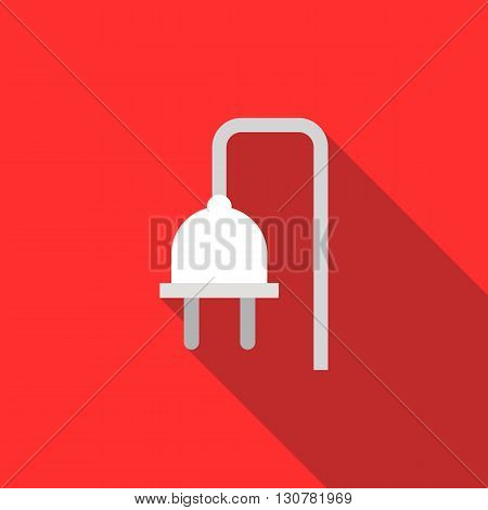 Electrical plug icon in flat style with long shadow