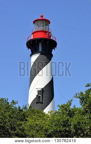 Historic St. Augustine, Florida lighthouse landmark background