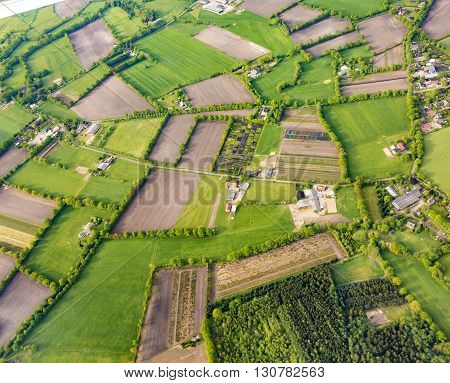 Aerial Of Rural Landscape  Near Hamburg