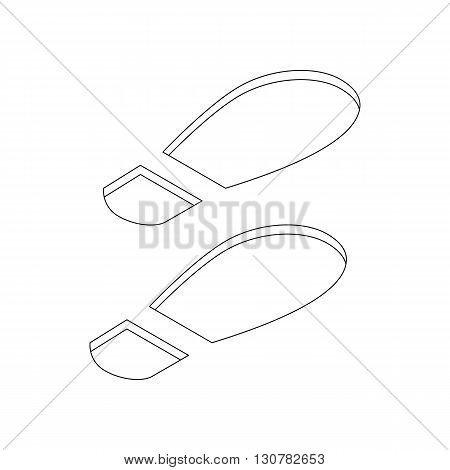 Imprint soles shoes icon in isometric 3d style on a white background