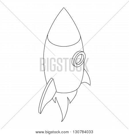 Rocket icon in isometric 3d style on a white background