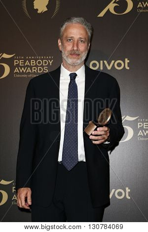 NEW YORK-MAY 21: Jon Stewart attends the 75th Annual Peabody Awards Ceremony at Cipriani Wall Street on May 21, 2016 in New York City.
