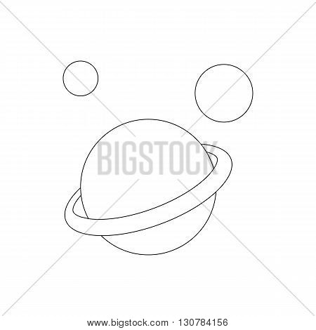Saturn planet icon in isometric 3d style on a white background