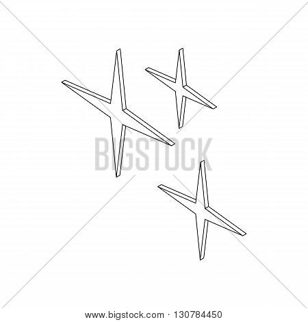 Sparkles icon in isometric 3d style on a white background
