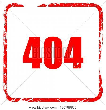 404 page, red rubber stamp with grunge edges