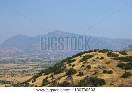 Macegonia Pelagonia region off Prilep town Baba mountains sunlit