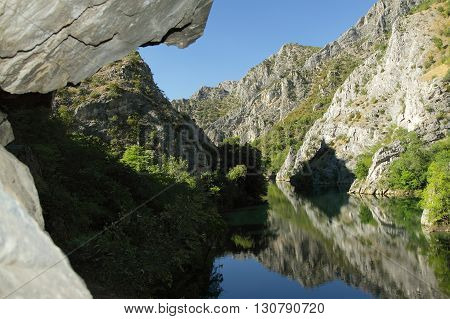 Rocks at Matka Canyon Macedonia (FYROM) off Skopje