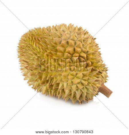 durian asia fruit isolated on white background.
