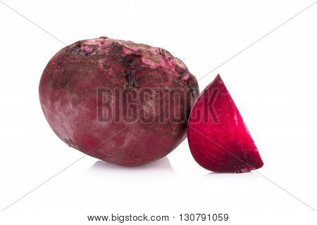 Beetroots food isolated on a white background.