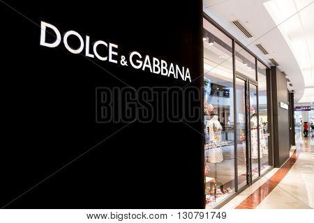 Kuala Lumpur, Malaysia, May 20, 2016:  Dolce & Gabbana Boutique At Klcc Mall, Kuala Lumpur, With Foc