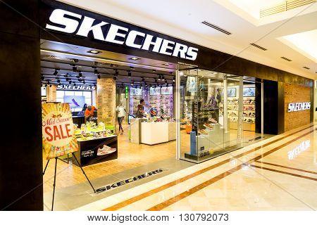 Kuala Lumpur, Malaysia, May 20, 2016: Sketchers Outlet At Klcc, Kuala Lumpur.  Skechers Is An Americ