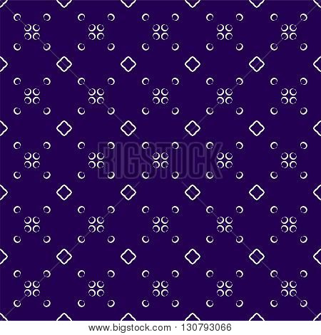 Vector seamless pattern. Modern stylish texture. Repeating geometric tiles with circular elements