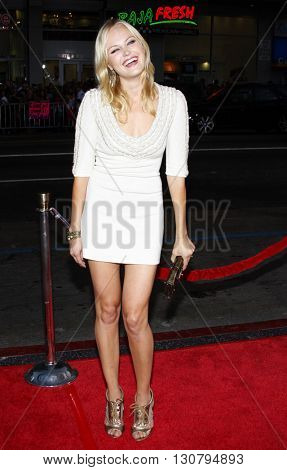 Malin Akerman at the Los Angeles premiere of 'Eagle Eye' held at the Grauman's Chinese Theater in Hollywood, USA on September 16, 2008.