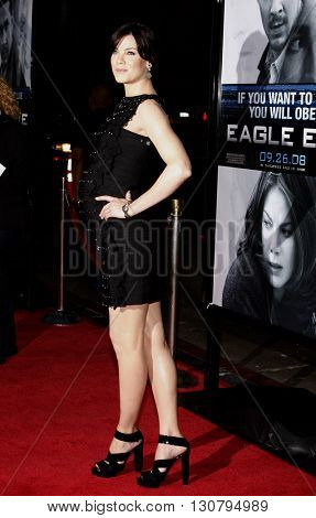 Michelle Monaghan at the Los Angeles premiere of 'Eagle Eye' held at the Grauman's Chinese Theater in Hollywood, USA on September 16, 2008.