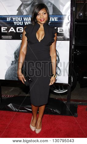 Taraji P. Henson at the Los Angeles premiere of 'Eagle Eye' held at the Grauman's Chinese Theater in Hollywood, USA on September 16, 2008.