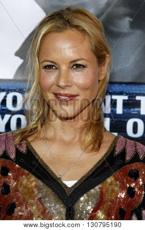 Maria Bello at the Los Angeles premiere of 'Eagle Eye' held at the Grauman's Chinese Theater in Hollywood, USA on September 16, 2008.