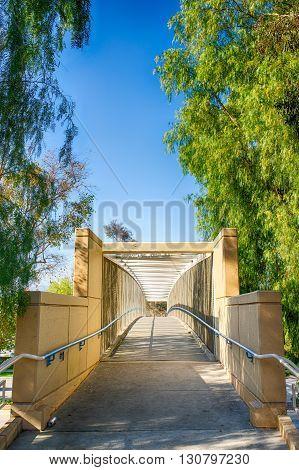 Walking Bridge Over Street