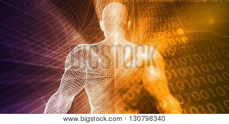 Technology Abstract as a Virtual Software Background Concept 3d Illustration Render