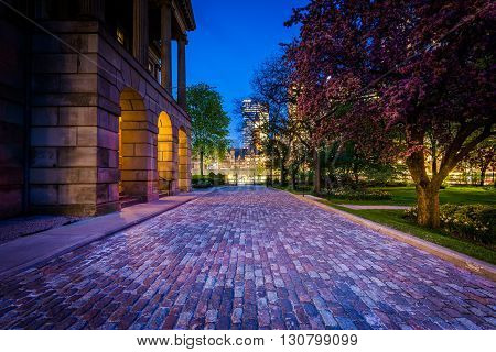 Osgoode Hall At Night, In Downtown Toronto, Ontario.