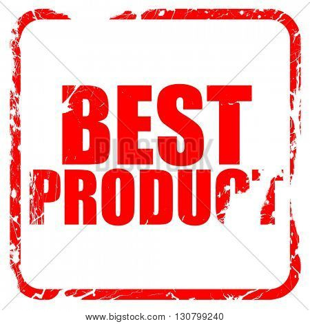 best product, red rubber stamp with grunge edges