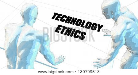 Technology Ethics Discussion and Business Meeting Concept Art 3d Illustration Render