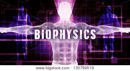 Biophysics as a Digital Technology Medical Concept Art 3d Illustration Render