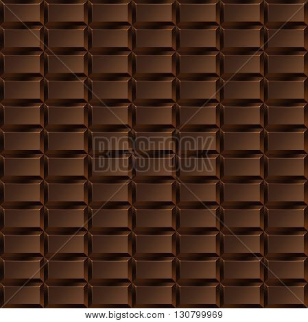 Seamless texture with a delicious dark chocolate tiles
