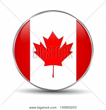 Flag of Canada on a white background.