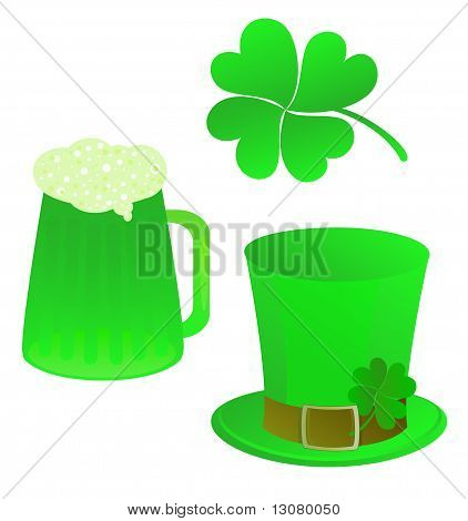 a set of vector elements for St. Patrick's day