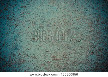 Wooden surface painted abstract blue wood background