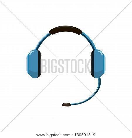 Headphones icon in cartoon style on a white background