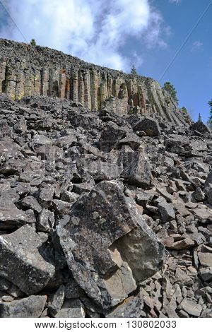 the rock scree near sheep eaters cliff