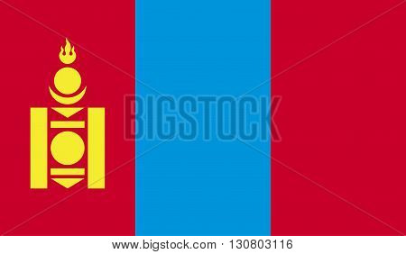 Mongolia flag image for any design in simple style
