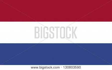 Netherlands flag image for any design in simple style