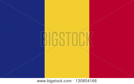 Romania flag image for any design in simple style