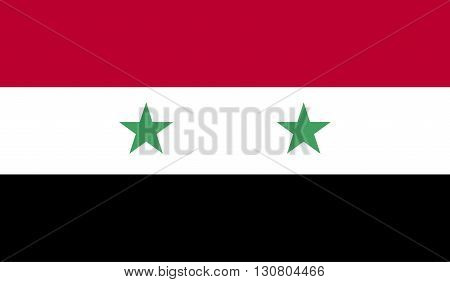 Syria flag image for any design in simple style