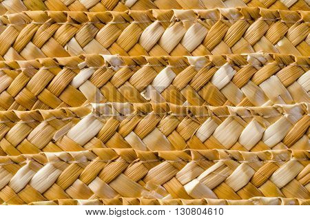 bamboo straw  yellow texture and background. Rustic