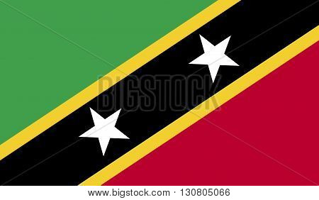 Saint Kitts and Nevis flag image for any design in simple style