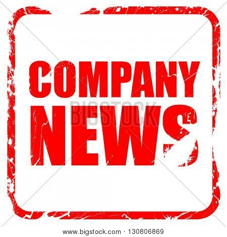 company news, red rubber stamp with grunge edges